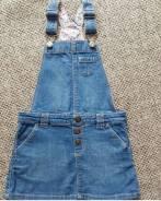 Сарафаны джинсовые. Рост: 98-104, 104-110, 110-116 см