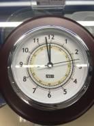 Часы в дерев корпусе с хромом160х160х35