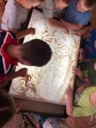 Рисование песком с детьми, песочная арт-терапия