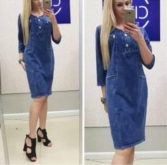 Платья джинсовые. 52, 54, 56, 58, 60, 62