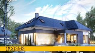 """Проект коттеджа """"M-Lotos"""". 200-300 кв. м., 2 этажа, 4 комнаты, комбинированный"""