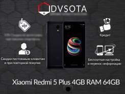 Xiaomi Redmi 5 Plus. Новый, 64 Гб, Черный, 4G LTE