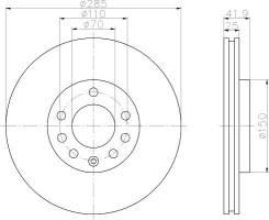 Диск тормозной передний Opel Vectra 1.6-2.2DTi 02> TRW DF4293
