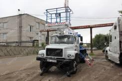 """ГАЗ 3309. Автовышка ГАЗ-33098 """"ГАЗон"""" Егерь, двухрядная кабина, телескопическая, 18,00м."""