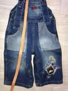 Комбинезоны джинсовые. Рост: 74-80, 80-86, 86-92 см