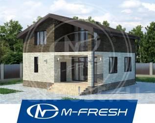 M-fresh BlackBerry-зеркальный (Проект дома с накрытым балконом! ). 100-200 кв. м., 2 этажа, 5 комнат, бетон
