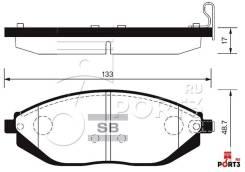 Колодки дисковые передние Daewoo Lanos/Matiz,Chevrolet Spark 0.8-1.5i 98> HSB HP2023