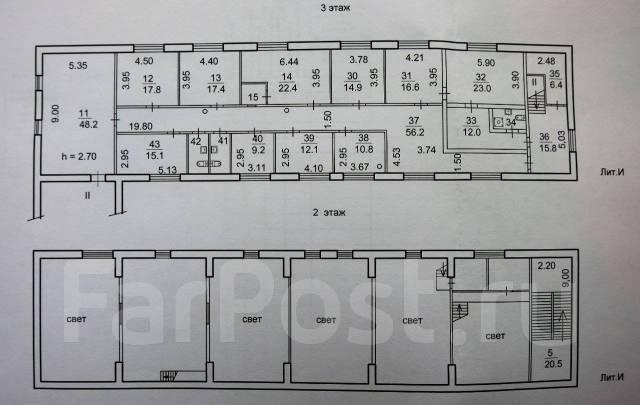 Продаю комплекс зданий Sоб=1000 кв. м. на земельном участке 1107,3 кв. Улица Бородинская 20, р-н Вторая речка, 1 000кв.м.