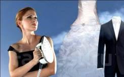 Отпаривание, отпарка, химчистка свадебного платья и костюмов!