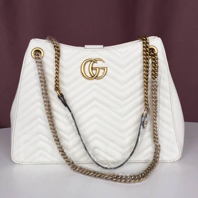 b6055a4ca216 Сумка Gucci GG Marmont из натуральной кожи. Реплика 1:1 - Аксессуары ...
