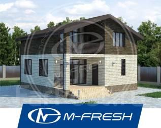 M-fresh BlackBerry (Готовый проект дома из теплоблоков для Вас! ). 100-200 кв. м., 2 этажа, 5 комнат, бетон