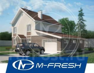 M-fresh Eskadra-зеркальный (Вот он! Проект дома с террасой и балконом). 200-300 кв. м., 2 этажа, 5 комнат, бетон