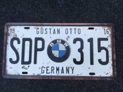 Номерной знак. BMW