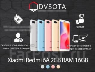 Xiaomi Redmi 6A. Новый, 16 Гб, Золотой, Синий, Черный, 3G, 4G LTE, Dual-SIM