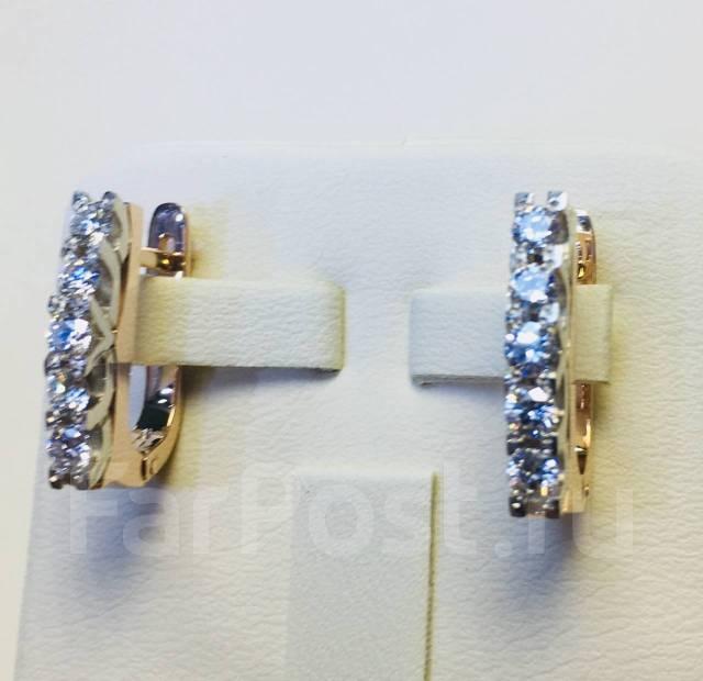 699f7d25d671 Золотые серьги 5,7 гр(золото 585 пр) с бриллиантами 0,90ct ...