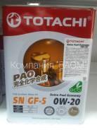 Totachi. 0W-20, синтетическое, 4,00л.