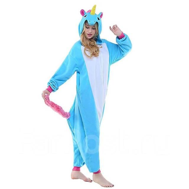 Пижама Кигуруми Единорог Голубой цвет - Одежда для дома и сна во ... 1dad753a2685d