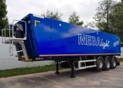 MEGA. Полуприцеп самосвальный алюминиевый Mega Light 42 m3, 34 000кг.