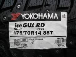 Yokohama Ice Guard IG55. Зимние, шипованные, 2018 год, без износа, 4 шт