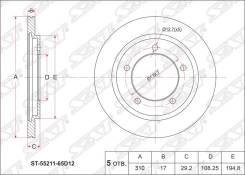 Диск тормозной. Suzuki Escudo, TA02W, TA52W, TD02W, TD32W, TD52W, TD62W, TL52W Двигатели: G16A, H25A, J20A, RF