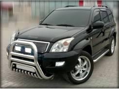 Защита переднего бампера на Toyota LAND Cruiser Prado 120