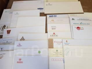 Коллекция конвертов из гостиниц