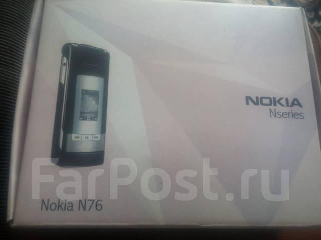Nokia N76. Б/у, до 8 Гб, Черный, 3G, Защищенный, Кнопочный