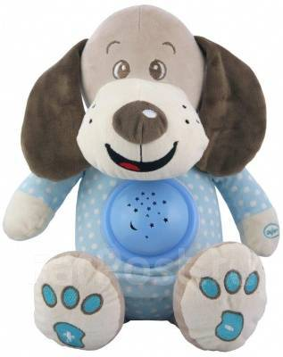 Baby Mix Игрушка Собачка с музыкой и ночником (голубой)