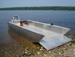 Лодка-катер с аппарелью для перевозки. 2018 год год, длина 6,10м., двигатель подвесной, бензин. Под заказ