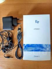 Fly FS502 Cirrus 1. Б/у, 8 Гб, Черный, 4G LTE, Dual-SIM