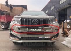 Накладка на бампер. Toyota Land Cruiser Prado, GDJ150, GDJ150L, GDJ150W, GDJ151W, GRJ150, GRJ150L, GRJ150W, KDJ150, KDJ150L, LJ150, TRJ150, TRJ150L, T...