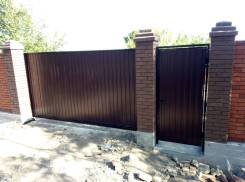 Изготовление и монтаж откатных ворот.