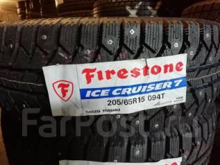 Firestone Ice Cruiser 7. Зимние, шипованные, 2017 год, без износа, 4 шт