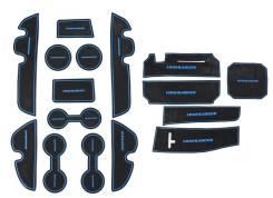 Комплект ковриков в ниши панелей и дверей для Toyota Highlander 2014-. Toyota Highlander, ASU50, ASU50L, GSU50, GSU55, GSU55L, GVU58 Двигатели: 2GRFE...