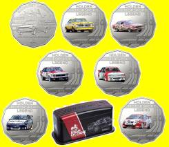 * Австралия набор 7 монет по 50 центов 2018 Holden Collection * Машина