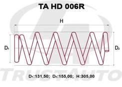 Комплект Задних Пружин +2см Honda HR-V GH3/GH4 TAHD006R