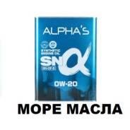 Alpha's. Вязкость 0W-20, синтетическое