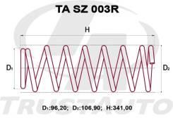 Пружина подвески. Suzuki Escudo, TA11W, TA31W, TA51W, TA52W, TD01W, TD11W, TD31W, TD51W, TD61W Suzuki Vitara, TA01V, TA02C, TC02C, TD03V, TD21V, TE02V...