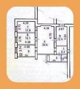 4-комнатная, улица Авраменко 17. Эгершельд, агентство, 93кв.м. План квартиры
