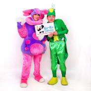Лунтик и Кузя (аниматор/герой/персонаж/актер) на праздник