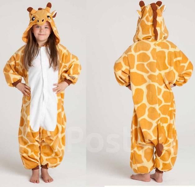 Детская теплая пижама кигуруми Жираф - Детская одежда в Хабаровске 40ef2b949b7c3