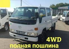 Toyota ToyoAce. 4WD, двухкабинник + борт, 3 000куб. см., 1 500кг., 4x4