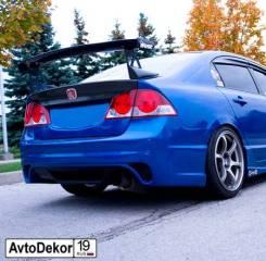 Задний бампер INGS Extreem на Honda Civic 4D (Хонда Цивик) 06-12г