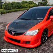Передний бампер INGS Extreem на Honda Civic 4D (Хонда Цивик 4Д) 06-12г