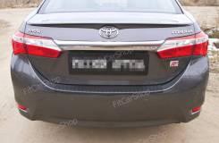Накладка на бампер. Toyota Corolla, NDE180, NRE180, ZRE172, ZRE181, ZRE182 Двигатели: 1NDTV, 1NRFE, 1ZRFAE, 1ZRFE, 2ZRFAE, 2ZRFE