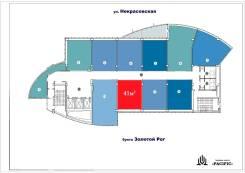 """БЦ """"Pacific"""" — офисная площадь в аренду — 41 метров. 41кв.м., улица Некрасовская 36б, р-н Некрасовская. План помещения"""