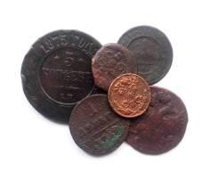 Подборка монет Елизаветы до Николая II 18-20 вв - 6 шт.