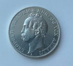 Анхальт-Дессау 1 талер 1866г Ag900 18,52гр Редкость Тираж всего 30 тыс