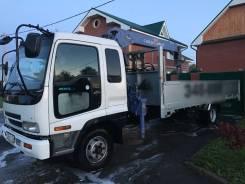 Isuzu FRR. Продам грузовик Isuzu Forward с манипулятором, 7 166куб. см., 5 000кг., 4x2