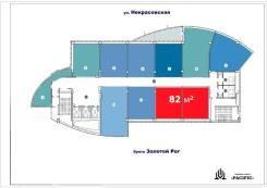 """БЦ """"Pacific"""" — последние площади в аренду — 82 метра. 82кв.м., улица Некрасовская 36б, р-н Некрасовская. План помещения"""